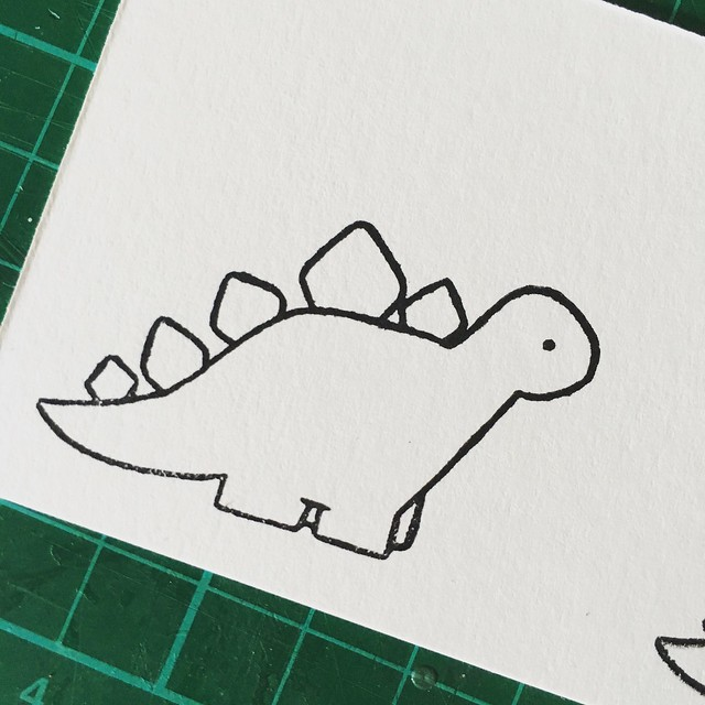StickerKitten Birthday Dinos stamps – stegosaurus