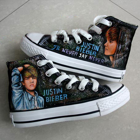 Justin Bieber Custom Shoes Design Your Own Hand Pain