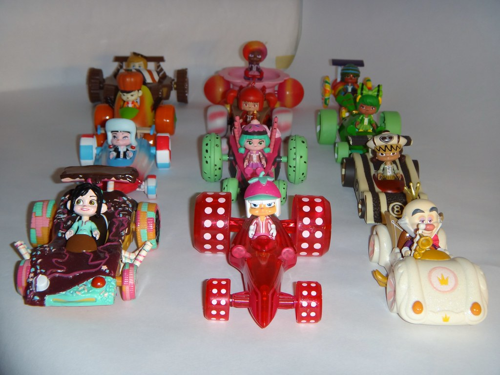 Sugar Rush Racers WreckIt Ralph Complete 12 Set Colle