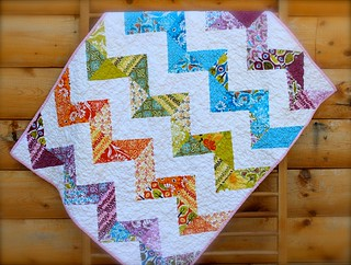Central Park ZigZag Baby Quilt | by CoraQuilts~Carla