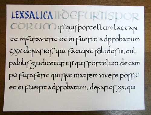Lex Salica Half Uncial Script Andrey Sannikov Flickr