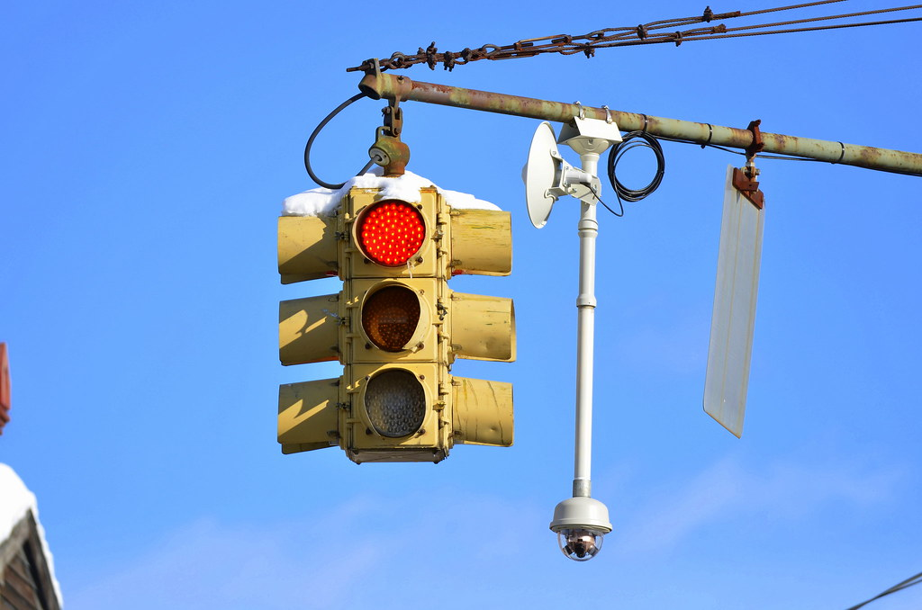 Old Cohoes Ny Traffic Signals An Old Marbelite 4 Way