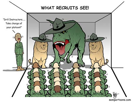 Recruit Vision   (Cartoons created by Gunny Wolf) For more ...