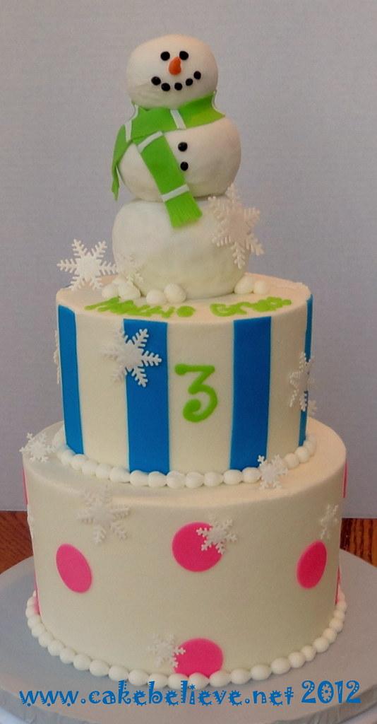 Winter Wonderland Birthday Cake Believe Flickr