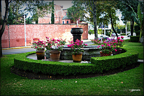 Fuente y jard n av altavista san angell inn ciudad de m x for Casa fernando ciudad jardin