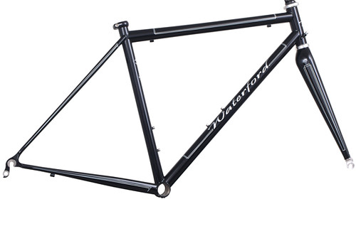 Waterford 14-Series Vision frame in Black with White Box Pinstriping | by waterfordbikes