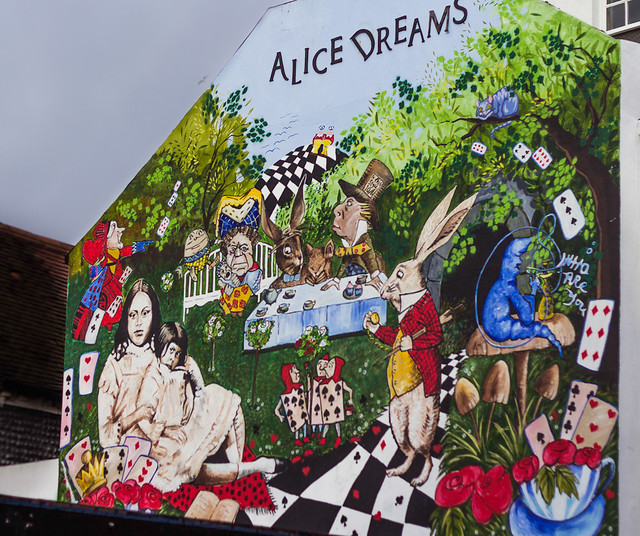 Alice in wonderland mural flickr photo sharing for Alice in wonderland mural
