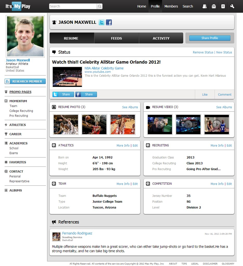 Example Of An Amateur Basketball Player Resume Global Spor Flickr