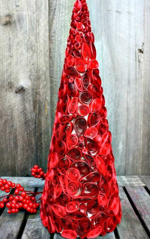 Quilled Cone Tree Made By Gina Gallisa Of Noir Blanc