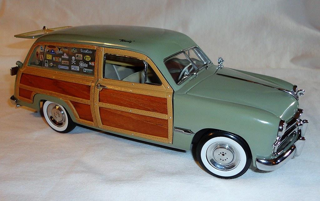 Motor City Classics Diecast Model 1949 Ford Custom Wood