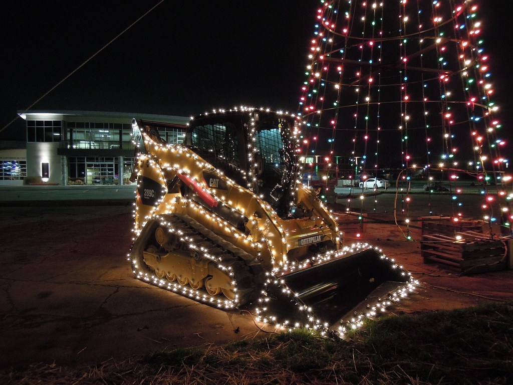289c Series 2 Compact Track Loader Decorated With Christma