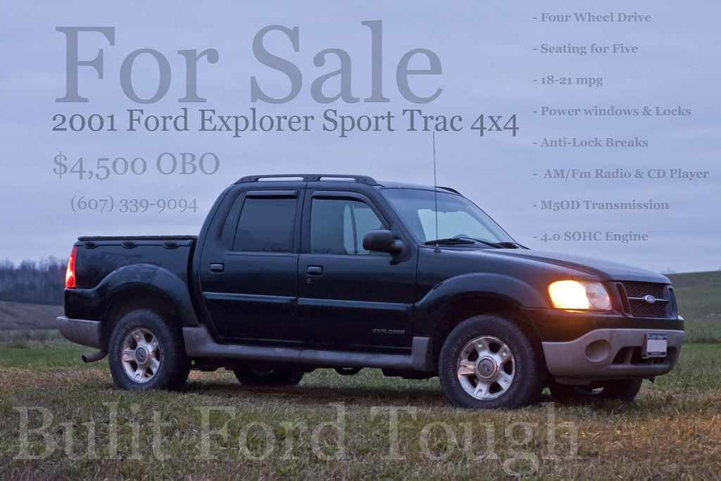 2001 ford explorer sport trac 4x4 for sale is a 2001. Black Bedroom Furniture Sets. Home Design Ideas