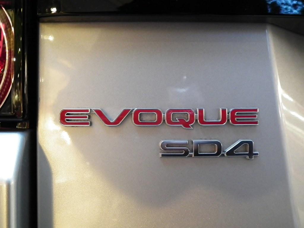 evoque sd4 rear badge on a new land rover range rover. Black Bedroom Furniture Sets. Home Design Ideas