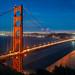 Golden Gate Bridge Blue Hour