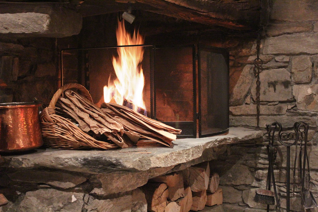 The Lovely Open Fire At Chalet Montperron La Rosiere