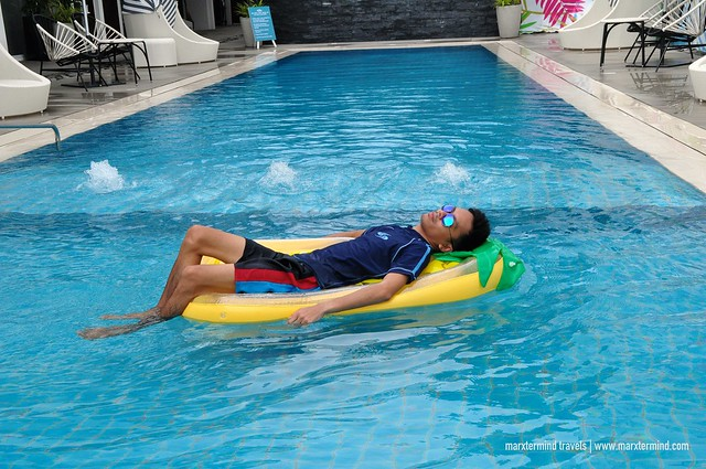 Enjoying the pool in Coast Boracay