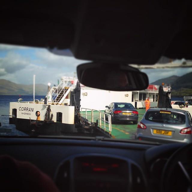 All aboard the Corran Ferry! Loch Linnhe, Scottish Highlands #scotland #lochlinnhe #scottishhighlands #scottishscenery #sealoch #corranferry