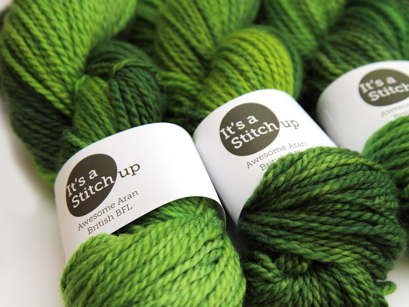Awesome Aran British BFL in 'Suffragette Green'