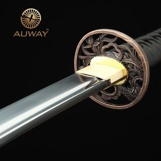 auway-samurai-sword-Orchid-Tsuba-Red-scabbard-6