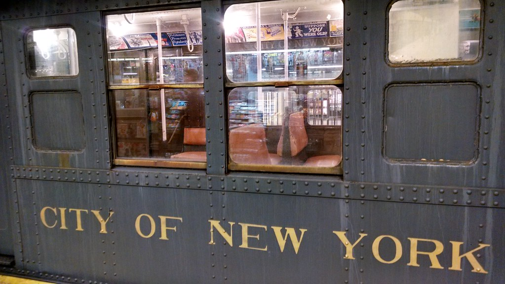 Old school New York subway car