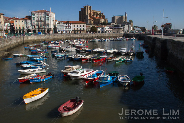 Castro Urdiales, a grogeous seaport in Cantabria close to Bilbao.