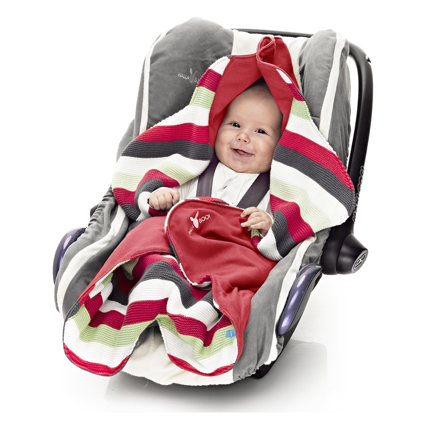 850 X 850 Baby Wrap Jolie Red Car Seat Closed Top And Baby Flickr