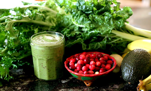 Green Smoothie with Cranberries | by Joanna Slodownik
