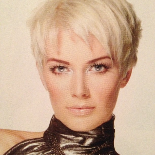 Short Icy Blonde Pixie Hair By L Salon Color Group Ea Flickr