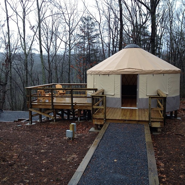 Yurt camping at its finest new yurt village at cloudland flickr new yurt village at cloudland canyon state park in ga publicscrutiny Gallery