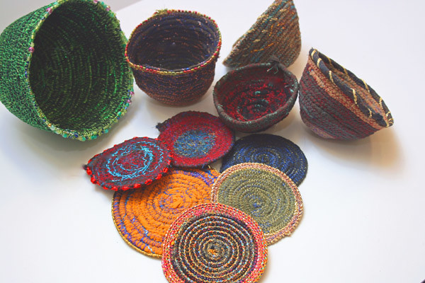 Craft ideas from waste for textile art a great way to for Art and craft for kids from waste material