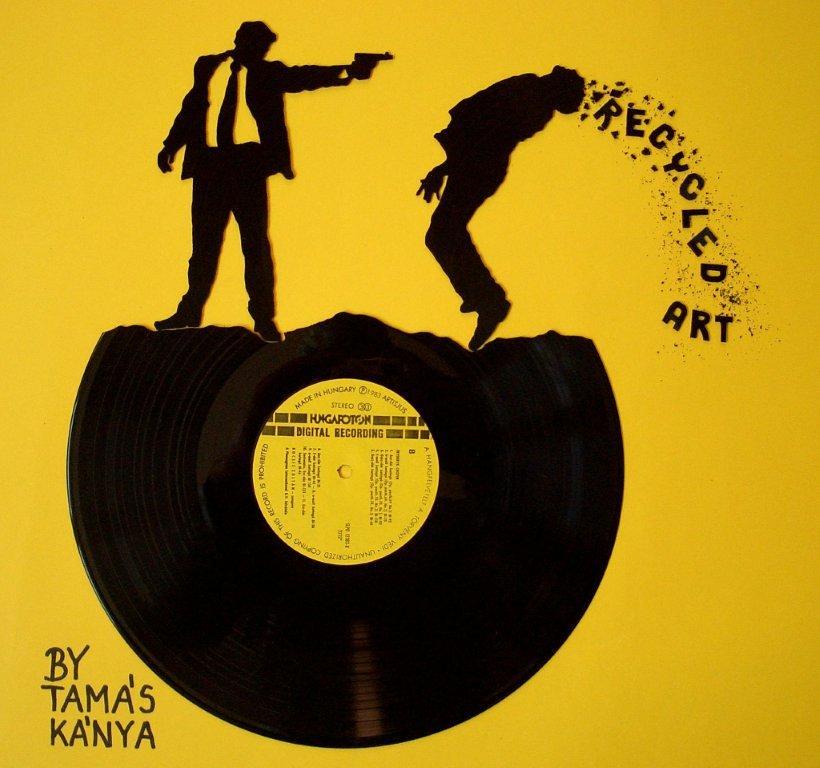 recycled vinyl records art by tamás kánya | recycled vinyl ...