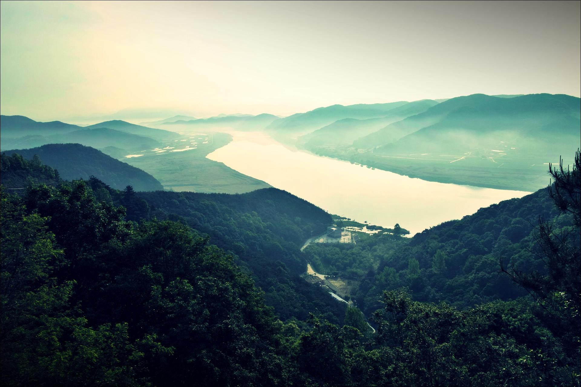 박진고개 풍경-'낙동강 자전거 종주여행'