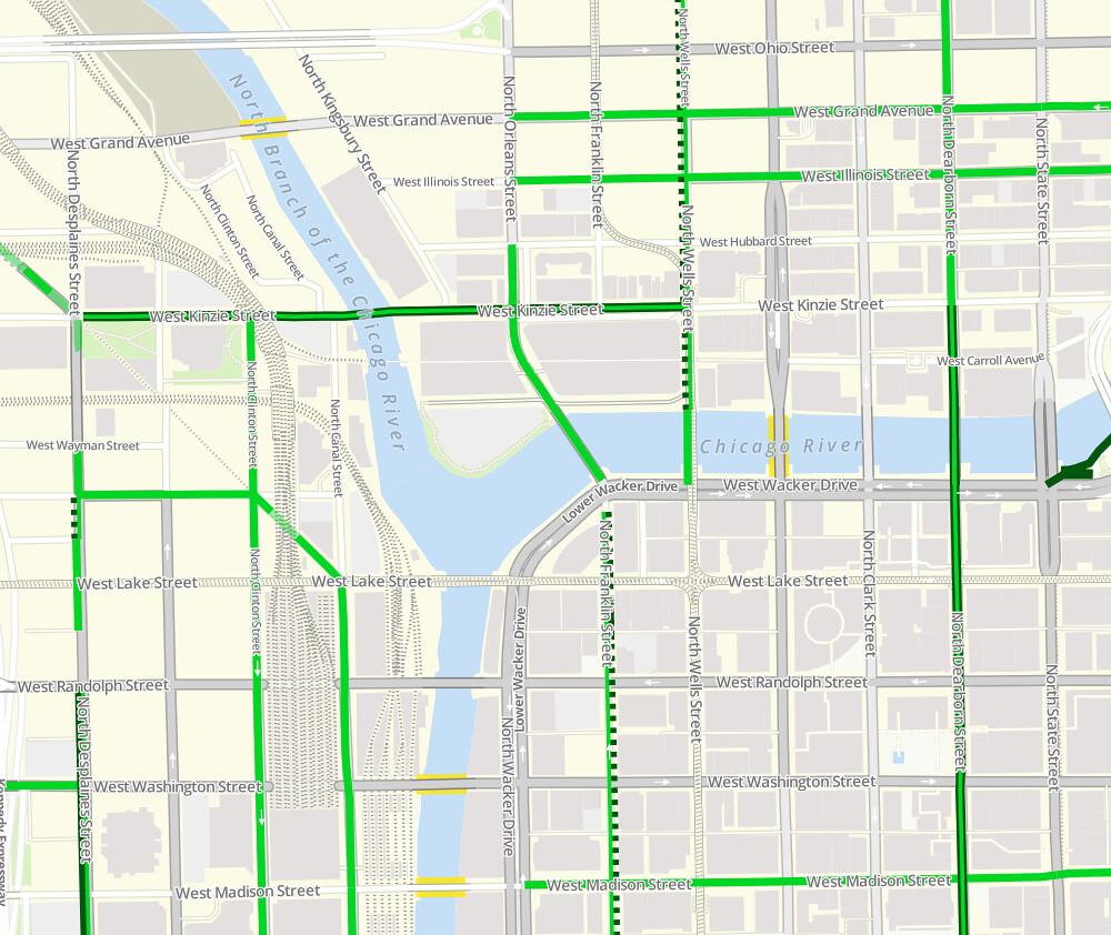 Chicago Bike Map App Locations Of Open Metal Grate Bridge Flickr - Chicago map app