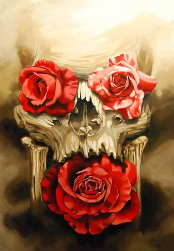rose eye skull copy | oil painting on canvas supergenius ...