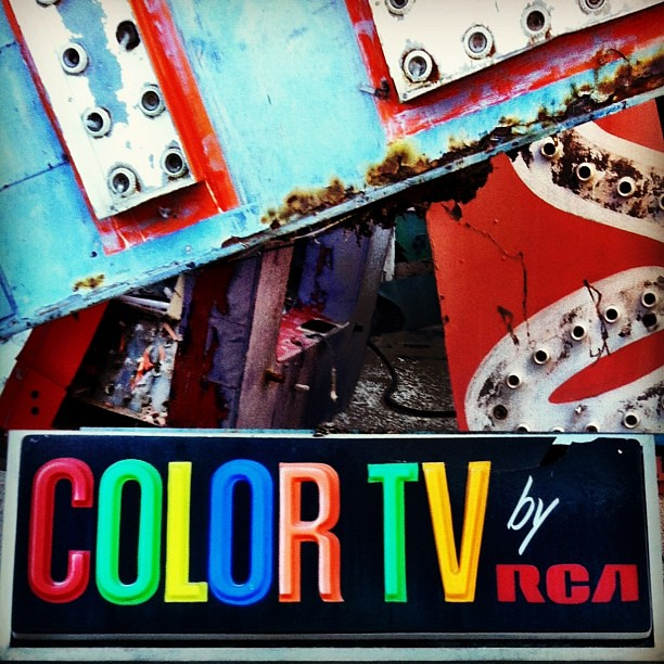 COLOR TV By RCA -- Vintage Sign At The Neon Boneyard In La