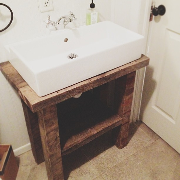 Cool No Matter How You Finish Your Homemade Bathroom Vanity, It Needs Protection From Moisture, As The Bathroom Is Potentially The Most Humid Room In The House, At Least When The Tub Or Shower Are In Use After Youve Painted The