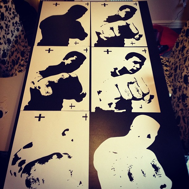 how to cut a stencil from a photo