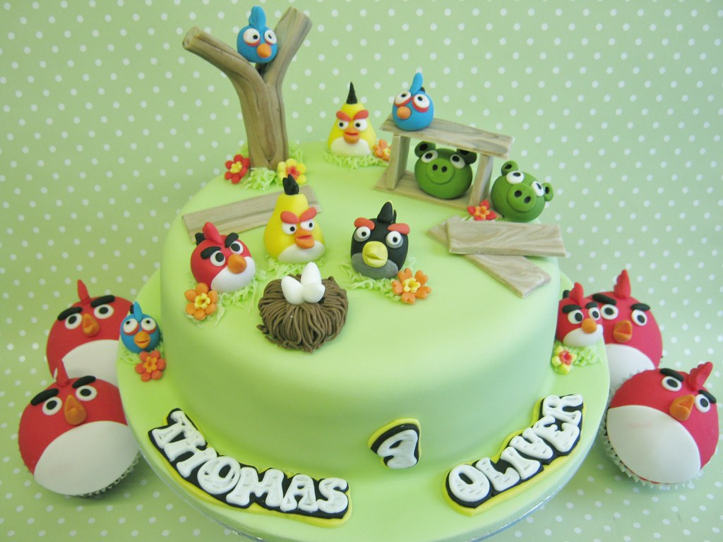 Angry Birds Birthday Cakes Birthday cake with matching cup Flickr