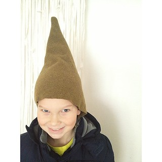 Crazy hat day at school means last minute LOTR hat made from moth-hole filled wool blanket. He's happy, I'm happy. | by Smile And Wave