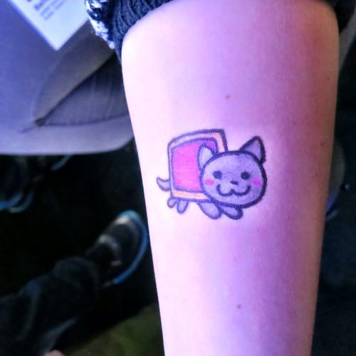Nyan Cat Tattoo Nyan Cat Temp Tattoo by