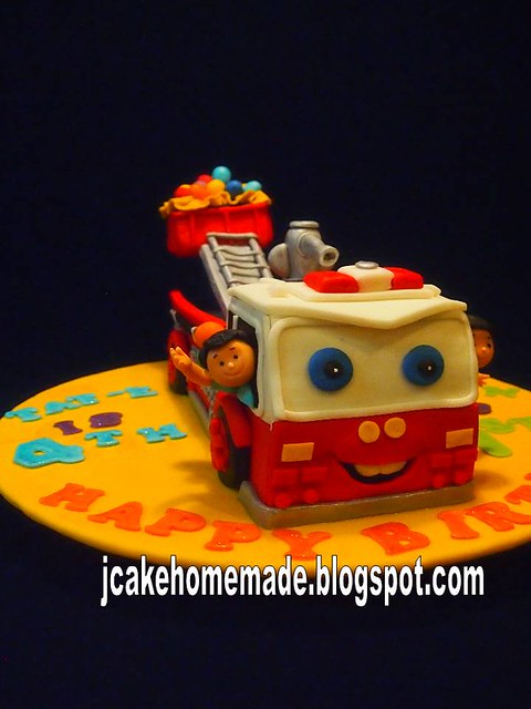 how to make a fire engine birthday cake