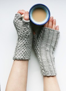 Pubnico Point wristwarmers in grey. | by knittinging