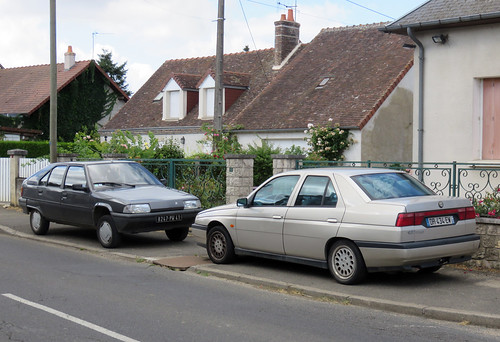 Alfa Romeo 155 2.5 TD and Citroen BX 19 TRD | by Spottedlaurel