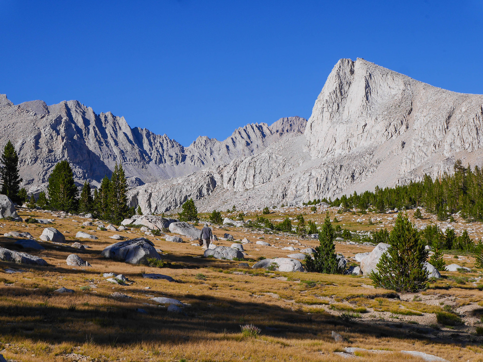 The east end of the Bighorn Plateau below Tyndall and the Wrights Lakes Basin