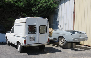 Talbot 1100 Van/Pickup and Peugeot 404 Convertible | by Spottedlaurel