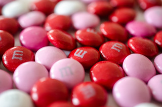 Valentine's Day plain M&Ms | by m01229
