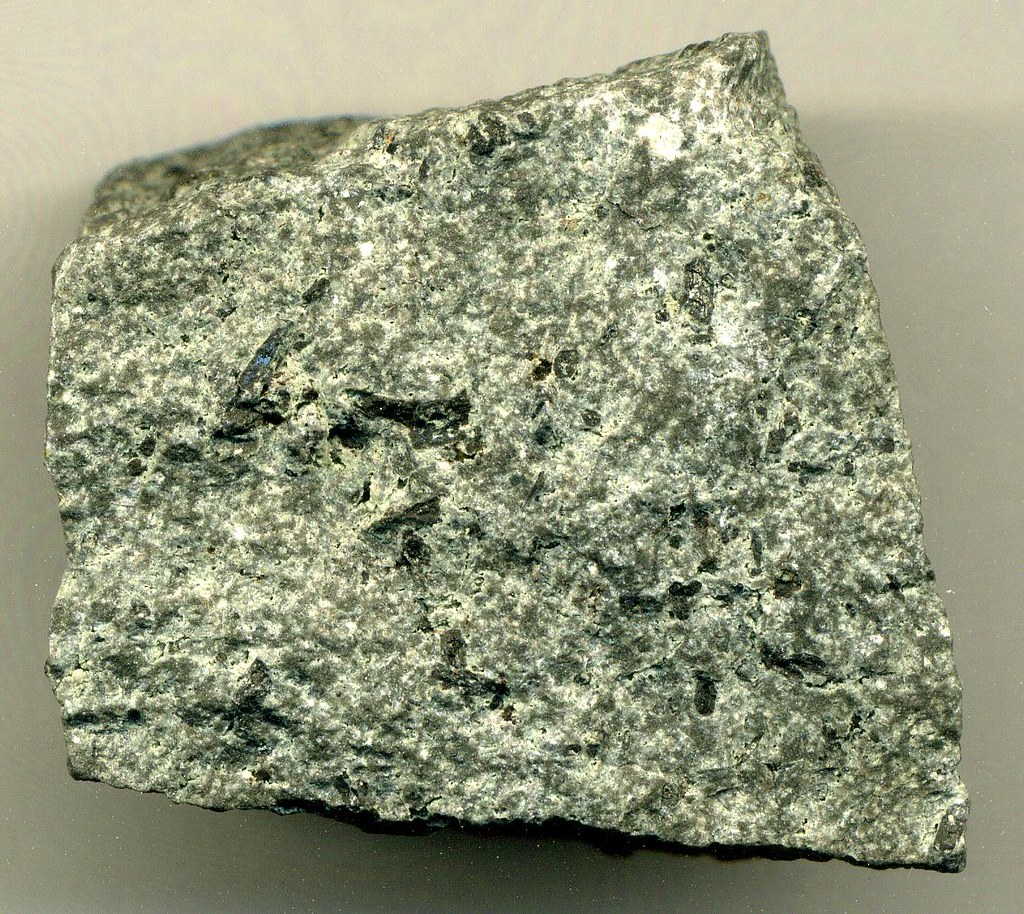 Andesite | Andesite - this sample is somewhat porphyritic ...