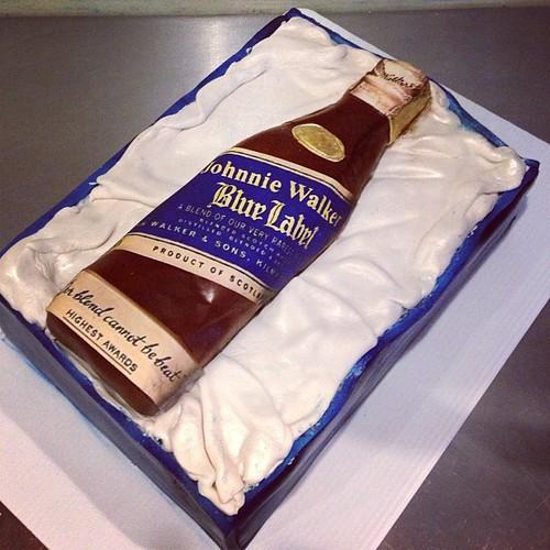 Blue Label Birthday Cake
