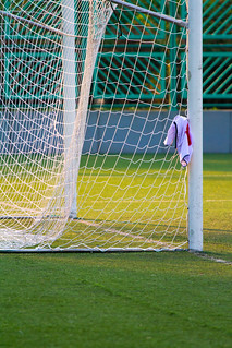 """足球龍門臨時衣架 Soccer Goal as Makeshift Clothes Hanger"" / 體育之形 Sports Forms / SML.20130222.7D.24456.P1.L1 