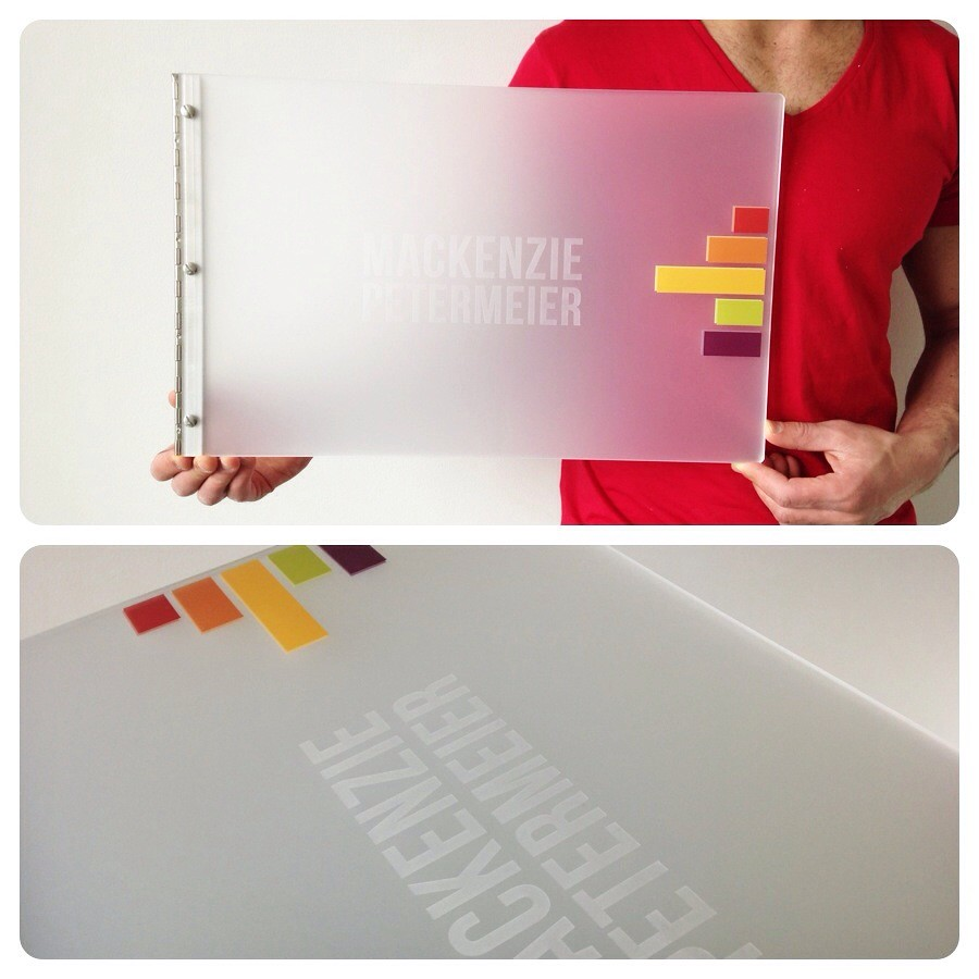 Custom Graphic Design Portfolio Book Frosted Clear Acryli